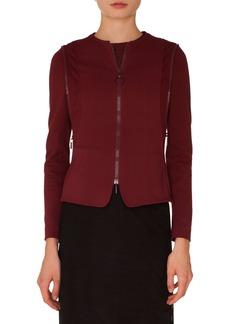 Akris punto Zip Detail Jersey Jacket