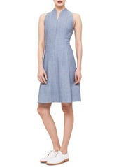Akris punto Zip-Front Pique Fit-and-Flare Dress