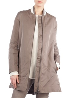 Akris punto Zip-Front Techno Bomber Jacket