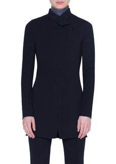Akris punto Zip Pinstripe Jersey Jacket