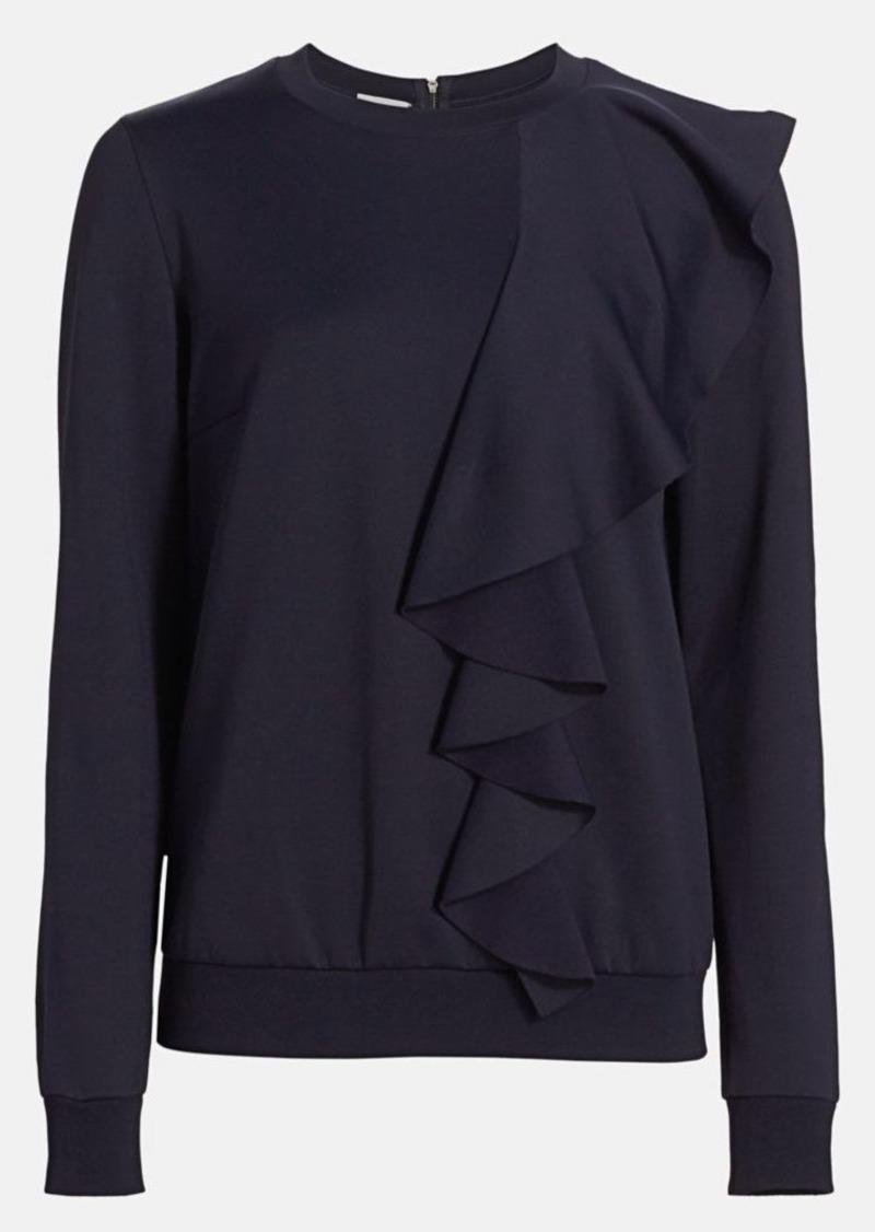 Akris Punto Asymmetric Ruffle Sweatshirt