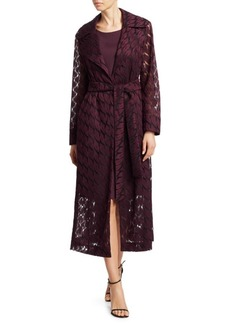 Akris Punto Babylon Lips Embroidered Coat