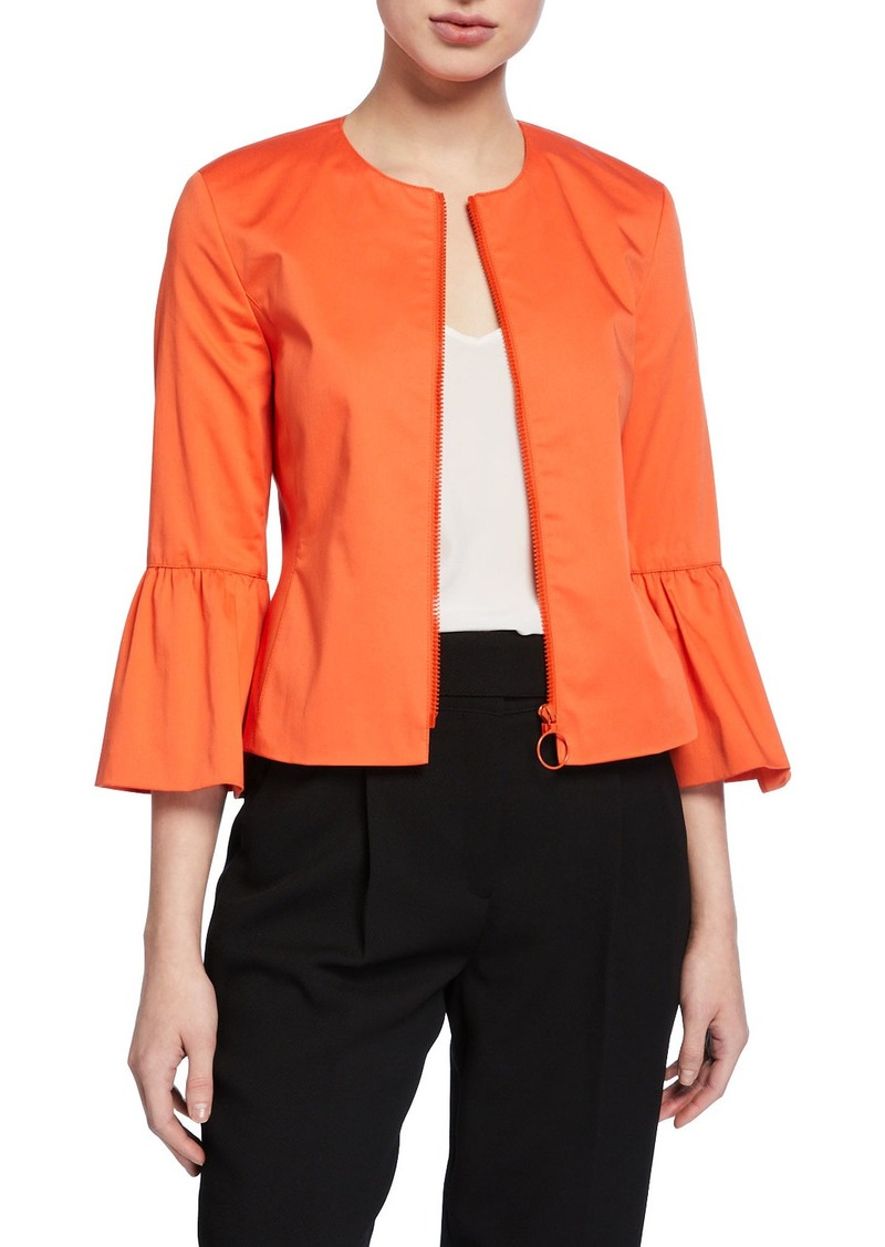 Akris Punto Bell-Sleeve Peplum Jacket