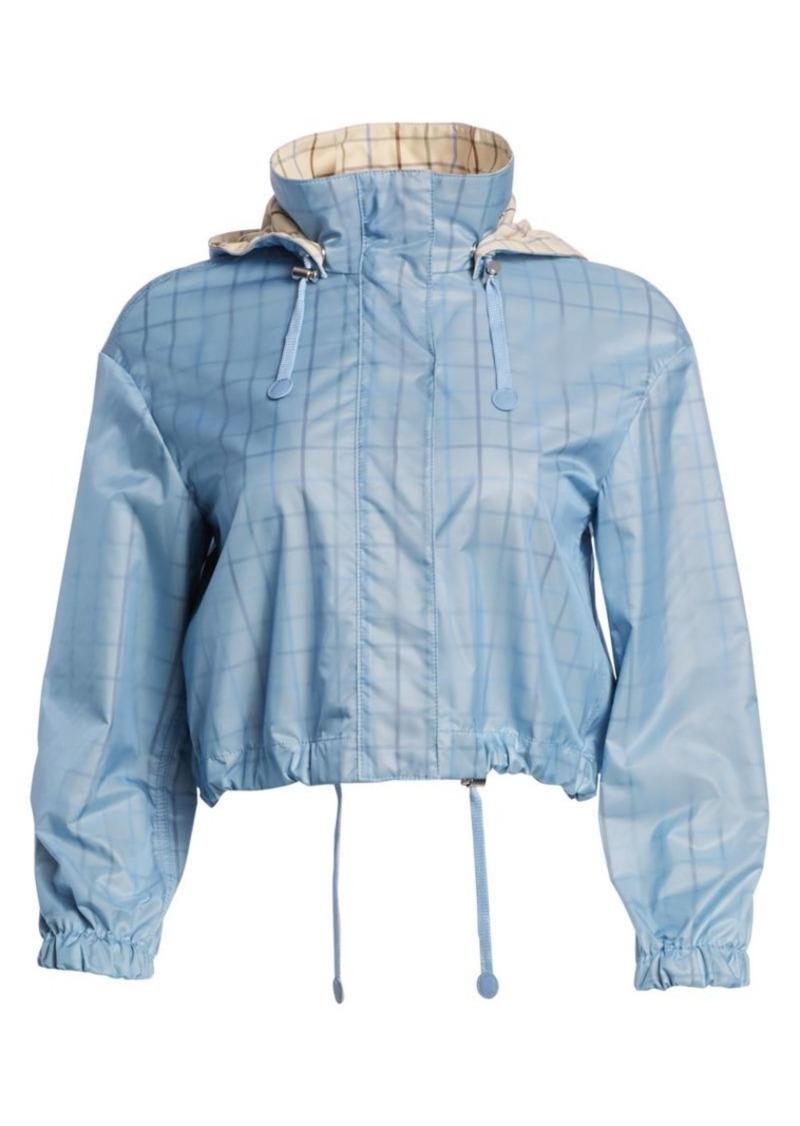 Akris Punto Check Lined Nylon Jacket