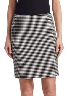 Akris Punto Check Pencil Skirt