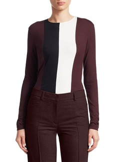Akris Punto Colorblocked Jersey Shirt