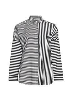 Akris Punto Cotton Multi-Stripe Blouse