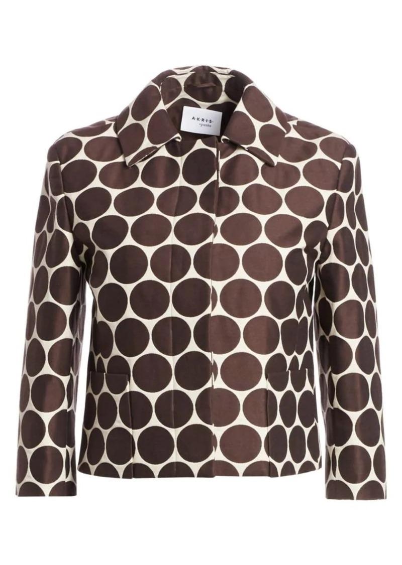 Akris Punto Cropped Dotted Jacket