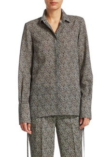 Akris Punto Crossroad Wool Button-Down Blouse
