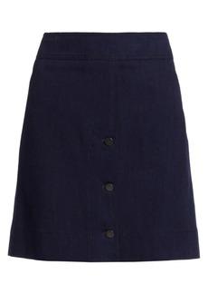 Akris Punto Denim Button-Front Skirt