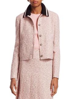 Akris Punto Detachable Collar Tweed Jacket