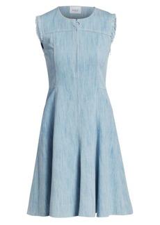 Akris Punto Distressed Denim Dress