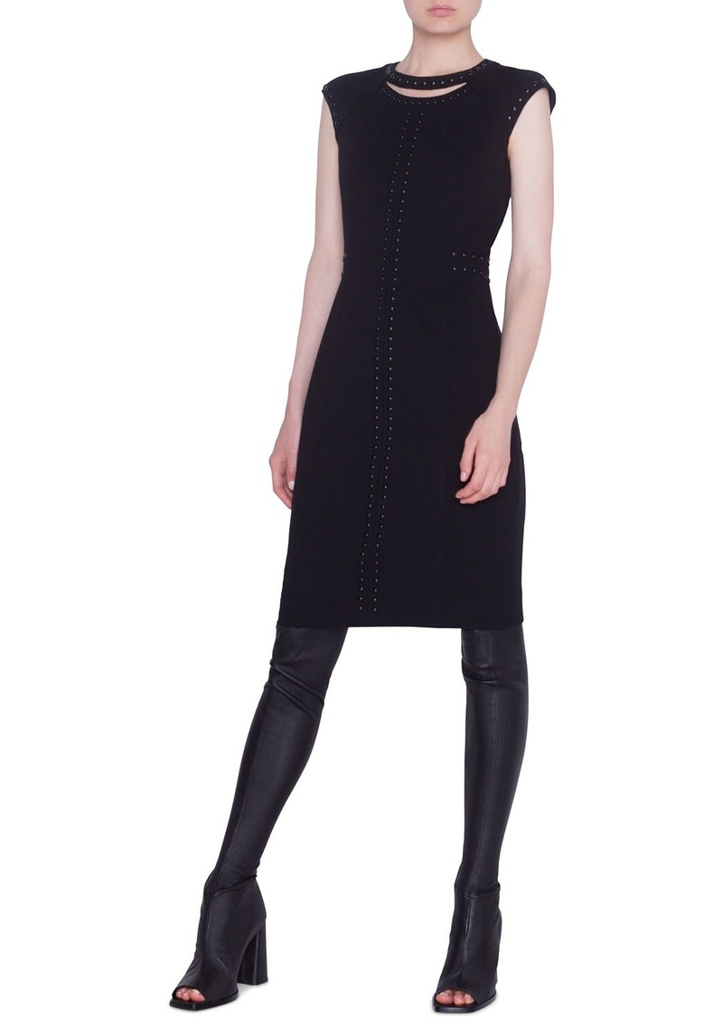 Akris Punto Dome-Studded Jersey Shift Dress