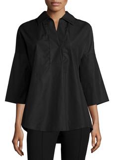 Akris Punto Elements Kimono-Sleeve Blouse  Black
