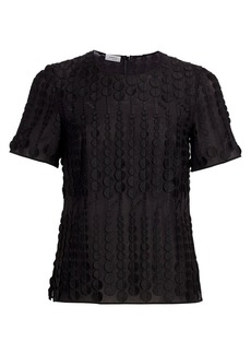 Akris Punto Embroidered Dot Tee