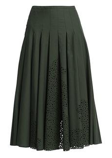 Akris Punto Eyelet Midi Bell Skirt
