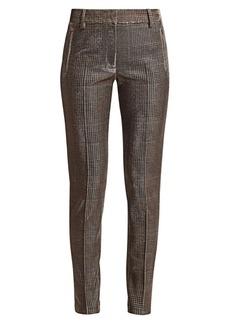 Akris Punto Fabia Metallic Lurex Glen Check Jersey Pants