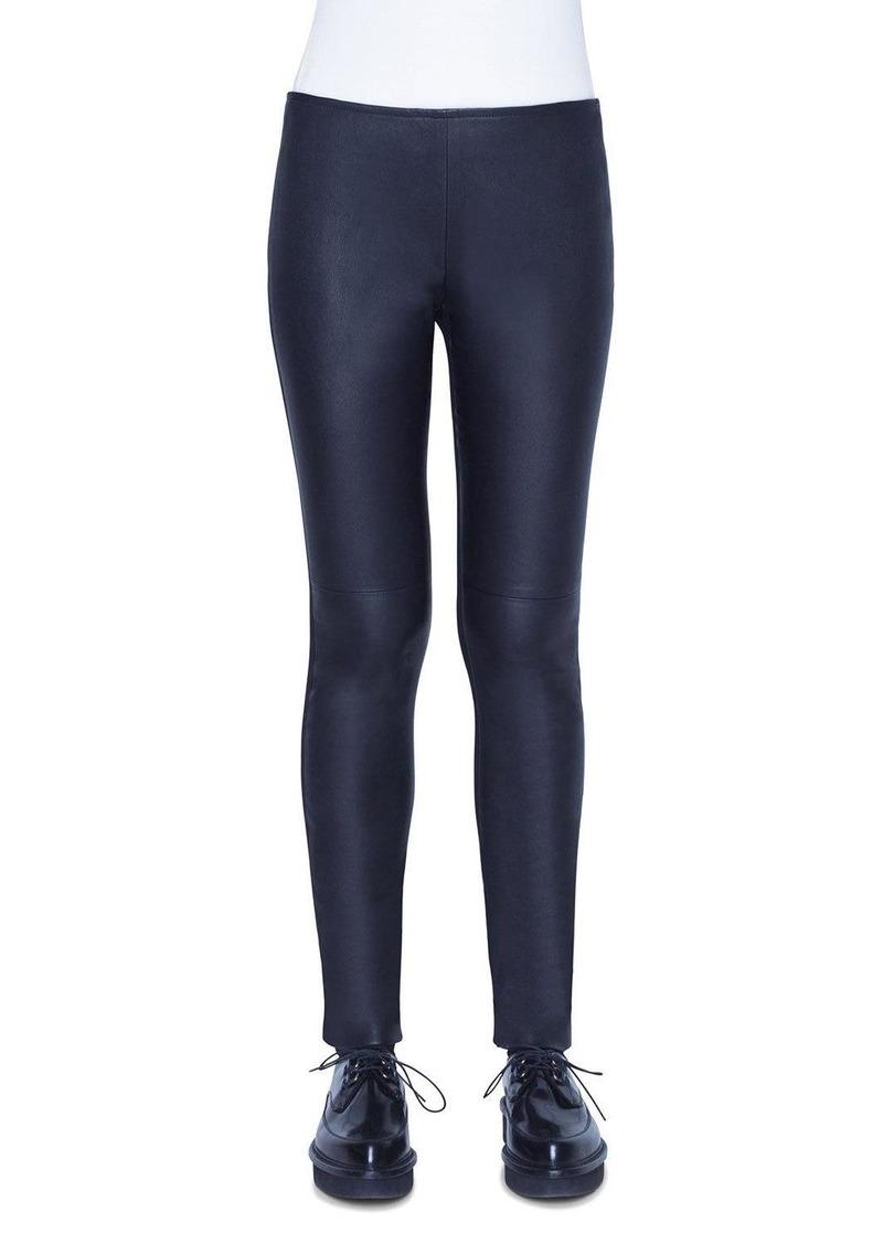 Akris Punto Fancy Napa Leather Pants