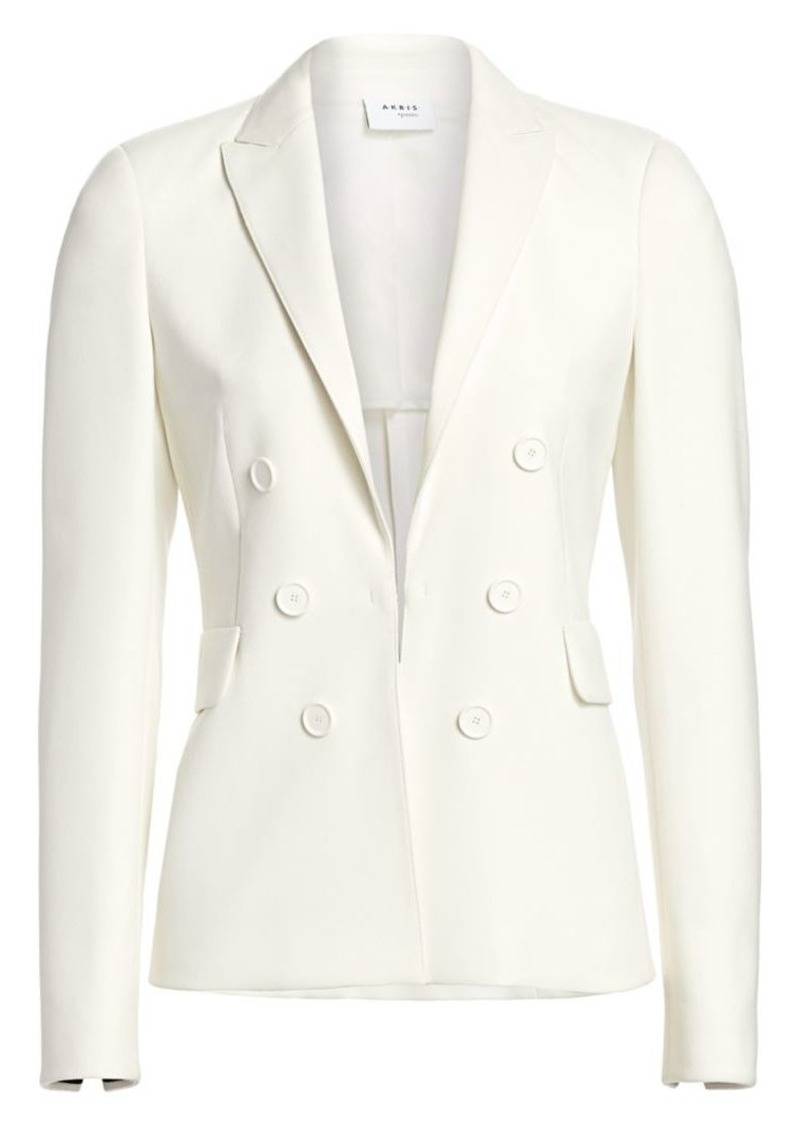 Akris Punto Faux Double-Breasted Jersey Jacket