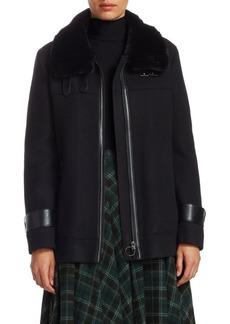 Akris Punto Faux-Fur Collar Jacket