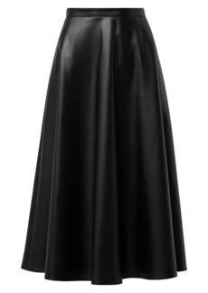 Akris Punto Faux Leather Midi Skirt
