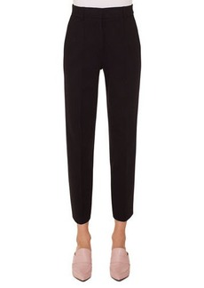 Akris Punto Ferry High-Waist Straight-Leg Cropped Jersey Pants