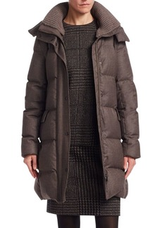 Akris Punto Flanell Quilted Waterproof Down Coat