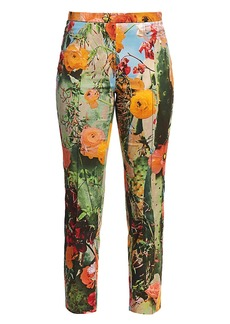 Akris Punto Franca Cactus Blossum Printed Pants