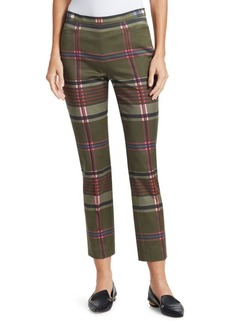 Akris Punto Franca Multicolored Plaid Pants
