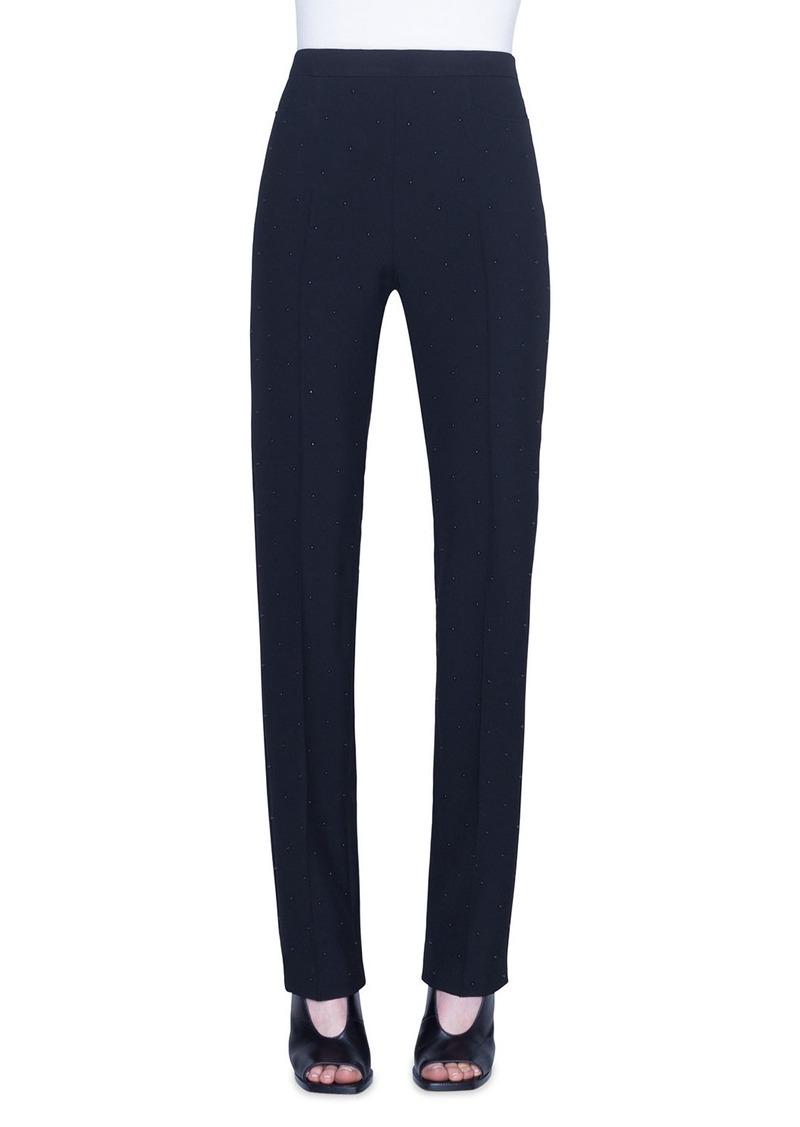 Akris Punto Francoise Pin-Dotted Crepe Pants