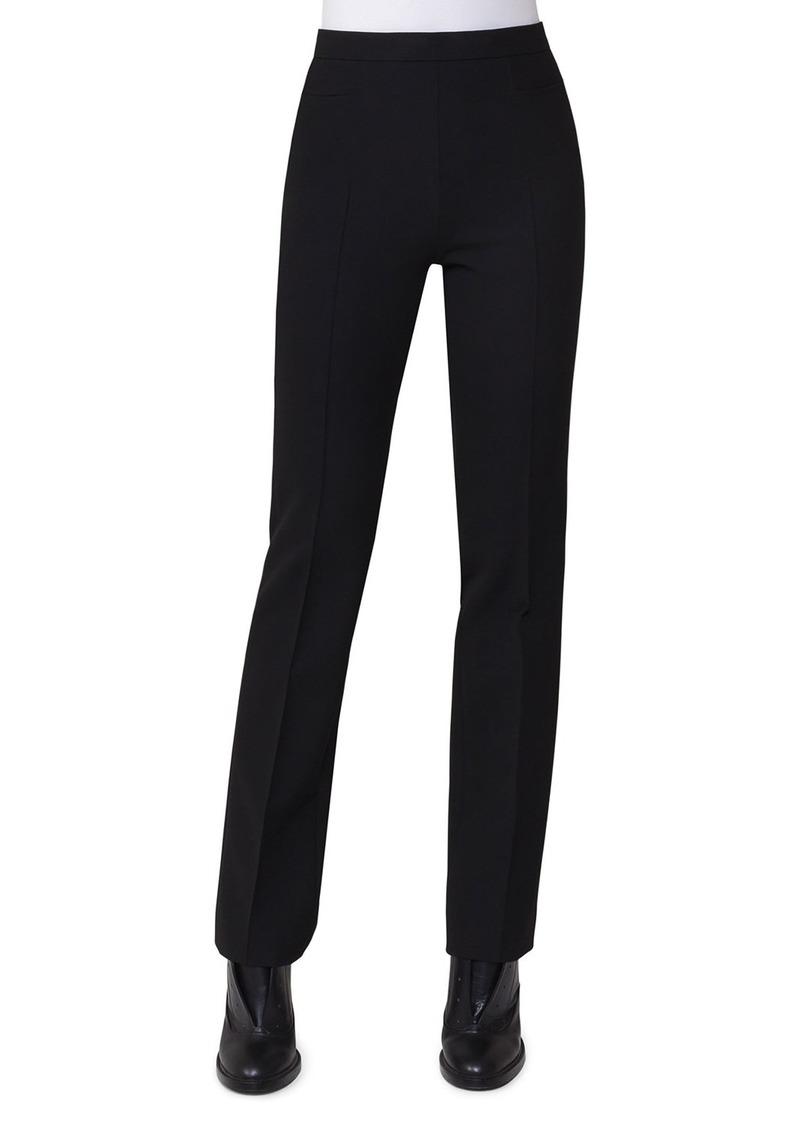 Akris Punto Francoise Slim-Straight Pants  Black