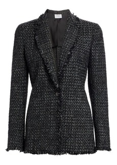 Akris Punto Frayed Trim Tweed Blazer