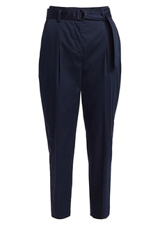Akris Punto Fred Belted Satin Stretch Pants