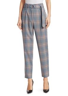 Akris Punto Fred Plaid High-Rise Stretch Wool Trousers