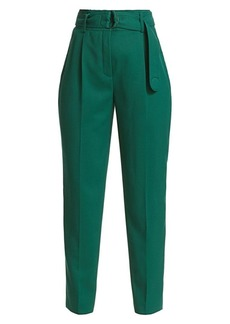 Akris Punto Fred Wool Tie-Waist Pants