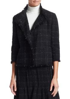 Akris Punto Fringe Tweed Cropped Jacket
