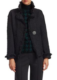 Akris Punto Fringed Tweed Jacket