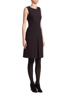 Akris Punto Gingham Sleeveless A-Line Dress