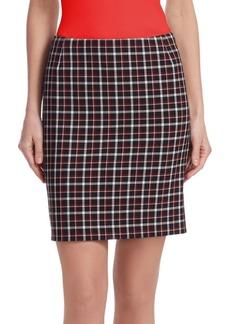 Akris Punto Glen Check Mini Skirt