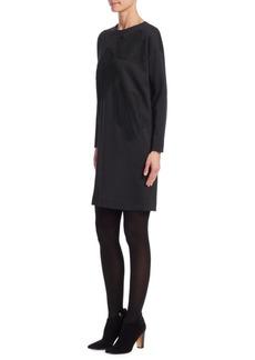 Akris Punto Graphic Flower Sweatshirt Dress
