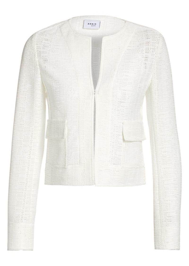 Akris Punto Grid Lace Jacket
