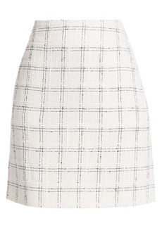 Akris Punto Grid Tweed Pencil Skirt