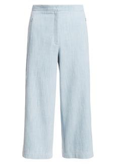 Akris Punto High-Waist Cropped Wide-Leg Denim Culottes