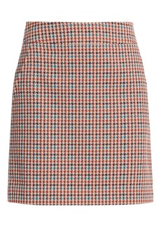 Akris Punto Houndstooth A-Line Skirt