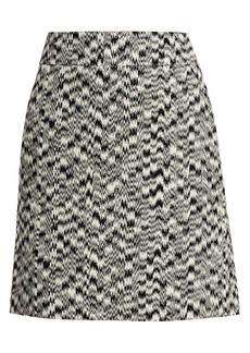 Akris Punto Ikat Printed A-Line Skirt