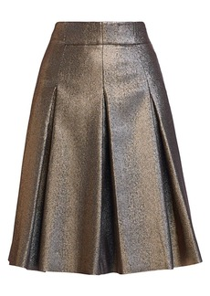 Akris Punto Iridescent Lamé Bell Skirt