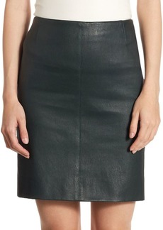 Jersey Leather Skirt