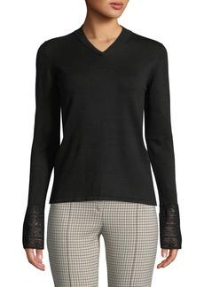 Akris Punto Knit Pullover w/Lace Cuffs
