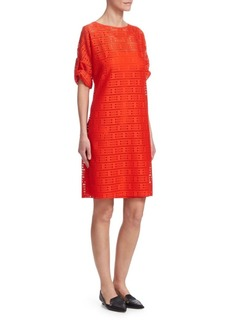 Akris Punto Lace Boatneck Shift Dress
