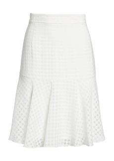 Akris Punto Lace Flare Hem A-line Skirt